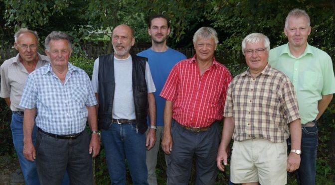 Gruppenbild 7 Vereinsmitglieder anlässlich der 140 Jahrfeier des Vereins.